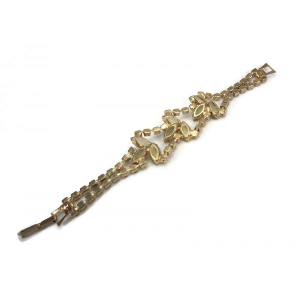 Vintage Juliana D&E Delizza and Elster Peridot Women's Bracelet Size 7 1/4