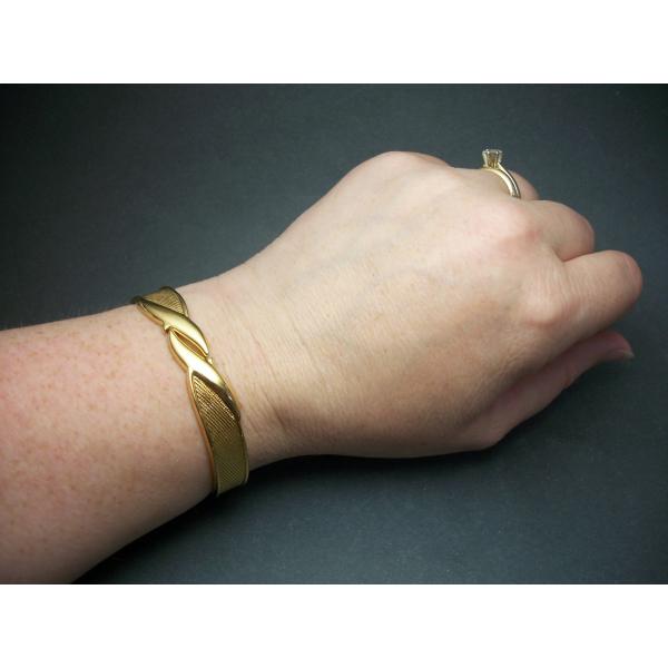Monet gold hinged bracelet for women