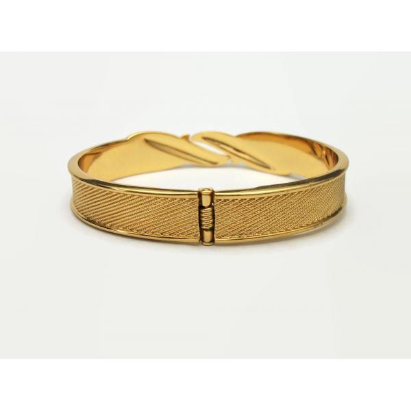 Back of vintage Monet gold clamper bracelet