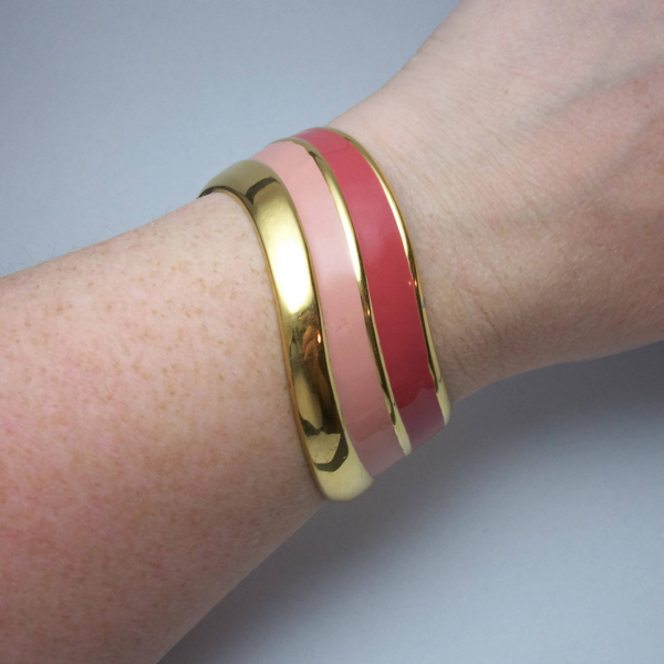 Napier pink and gold cuff bracelet