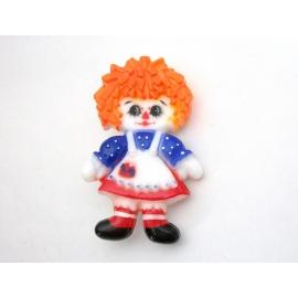 Vintage Raggedy Ann Doll Plastic Brooch Novelty Pin Signed Hallmark The Bobbs Me