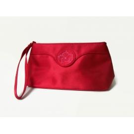 Oscar de la Renta Red Clutch Wristlet Handbag Cosmetics Bag Christmas Purse
