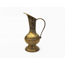 Vintage Miniature Brass Pitcher Ewer Made in India Tarnished 4 inches Tall