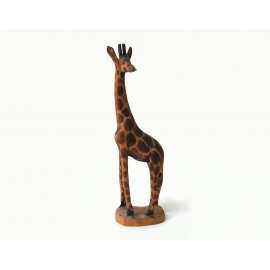 Vintage Hand Carved Wood Giraffe Figurine Statuette Sculpture Made in Africa 8""