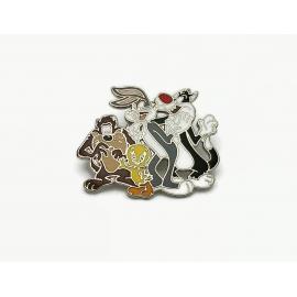Vintage Warner Brothers Pin Bugs Bunny Sylvester Tweety Bird Tasmanian Devil