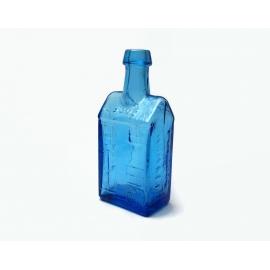 Vintage Wheaton NJ Blue Miniature 3 inch Bottle 1970s Miniature House Shaped