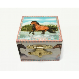 Horse Themed Ring Box Small Trinket by with Mirror Enchantmints Water Run 2006