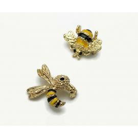 Vintage Gerry's Bee Scatter Pins Gold and Enamel Brooch Set of 2 Honeybees