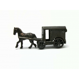 Vintage Die Cast Metal Pencil Sharpener Horse and Carriage Made in Hong Kong