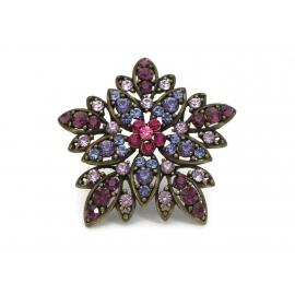 Purple rhinestone brooch