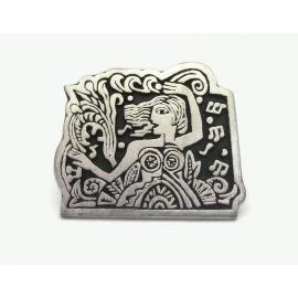 Vintage Alice Seely Pewter Art Brooch or Lapel Pin