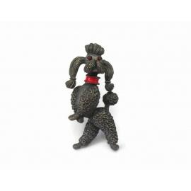 Vintage J.J. Jonette poodle brooch dog lapel pin