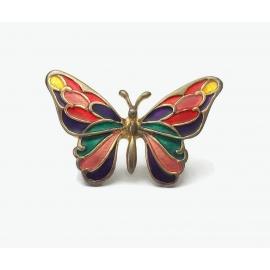 Colorful enamel butterfly pin