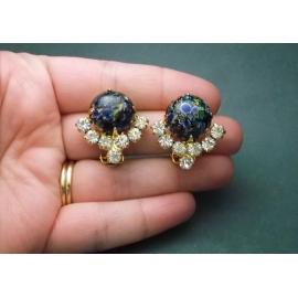 Vintage Juliana Delizza & Elster Clip on Earrings
