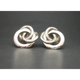 Vintage Coro silver clip on earrings