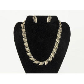 Vintage gold Coro necklace and earrings set