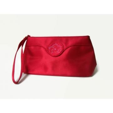 Oscar de la Renta Red Clutch Wristlet Handbag Cosmetics Bag Christmas Holiday Formal Evening Purse Wedding