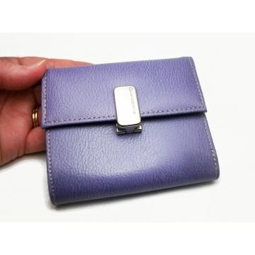 Liz Claiborne Trifold Wallet Purple Vinyl