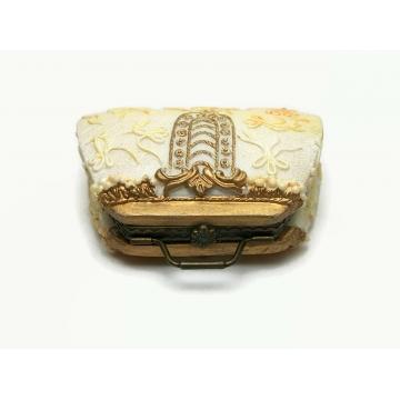 Vintage Purse Shaped Trinket Box Handbag Shaped Resin Ring Box