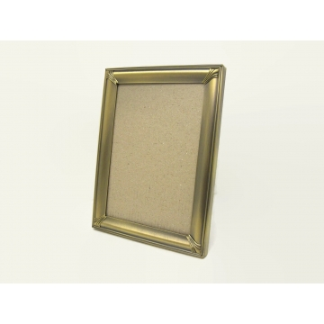 """Bronze Metal 5x7 Tabletop Easel Back Picture Frame with Glass by Malden   Black Velvet Easelback Metal Frame for 5"""" x 7"""" Photos"""