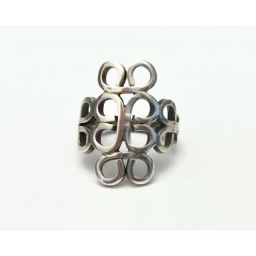Vintage Mexico 925 Sterling Silver Ring for Women or Men Unisex U.S. Size 7 3/4 Women's Men's Ring 925CMM Plain Silver Hallmarked