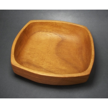 Vintage Scandinavian Wood Bowl Made in Sweden Karlshamn 6 inch Wooden Trinket Dish Tray Home Decor Mid Century Modern Scandia Present AB